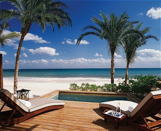 Beachfront Suite Terrace at Rosewood Mayakoba