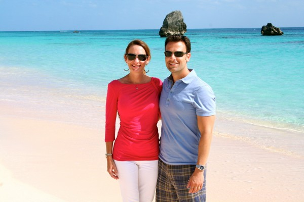 Exploring one of many stunning beaches on Bermuda