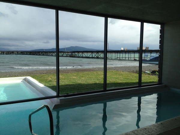 Indoor/outdoor pool at the The Singular's spa