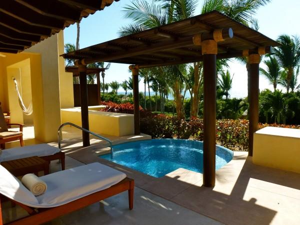 Terrace of a One Bedroom Oceanview Suite