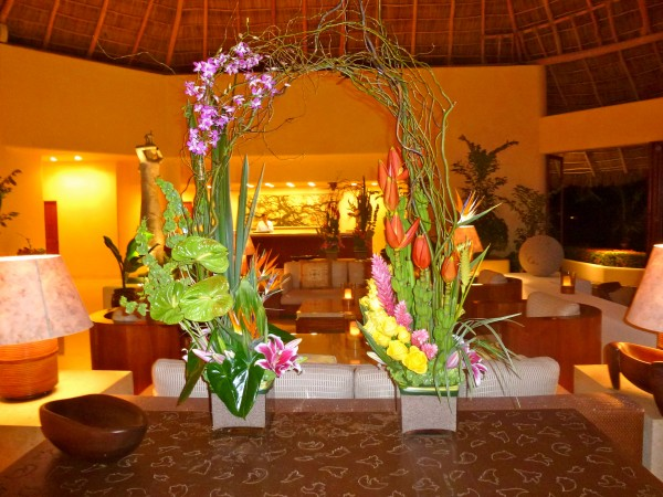 Stunning lobby at Four Seasons Punta Mita