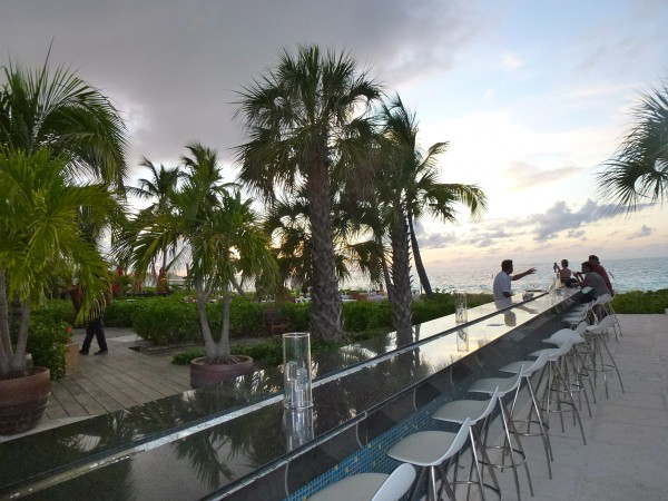Infinity bar at Grace Bay Club