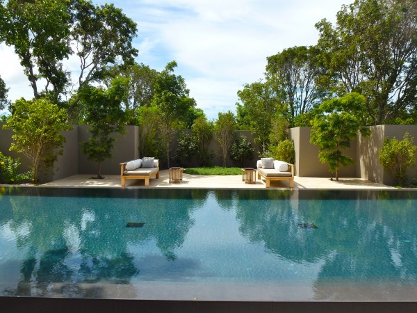 Private pool in villa at Amanyara