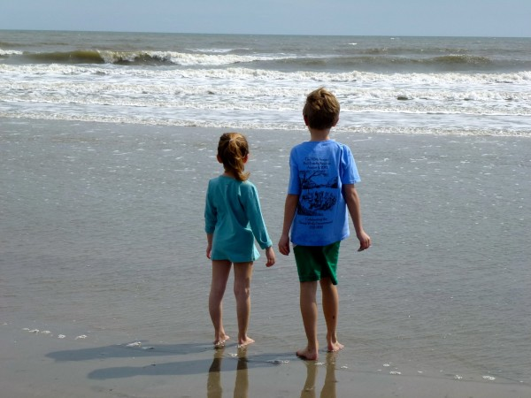 Enjoying an early spring beach day on Kiawah Island, South Carolina