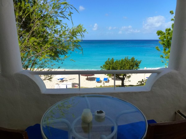 View from One-Bedroom Ocean View Suite at La Samanna