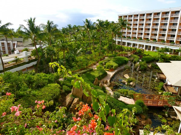 View from my balcony in the Napua Tower of the Grand Wailea