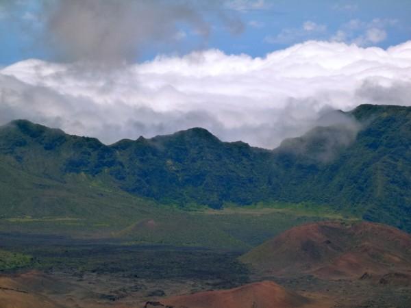 Haleakala's crater, 10,000 feet above sea level