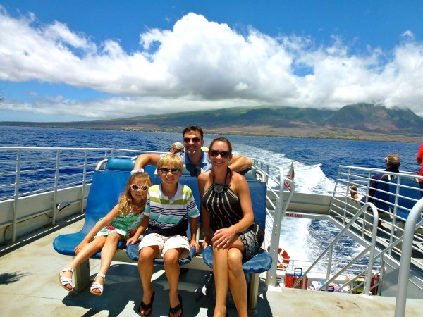 On the ferry to Lanai