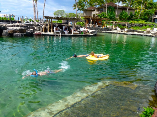 Snorkeling at Kings Pond, Four Seasons Hulalai