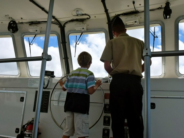 Our private guide arranged for my son to drive the boat back from the USS Arizona...Priceless