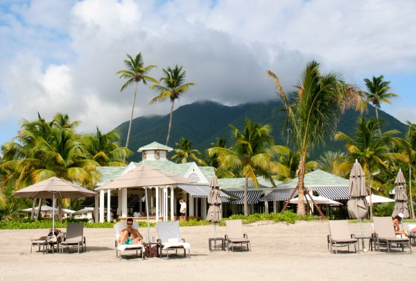 On the beach at the Four Seasons, Nevis