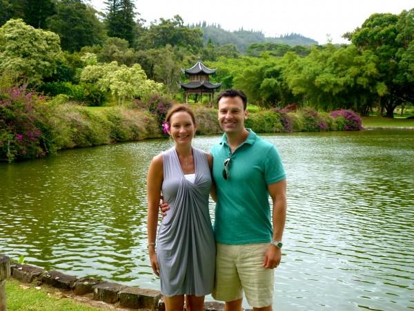 With my husband at The Lodge at Koele, Lanai