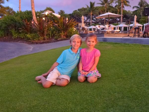 My children at Four Seasons Hualalai