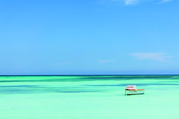 Aruba's famous clear waters