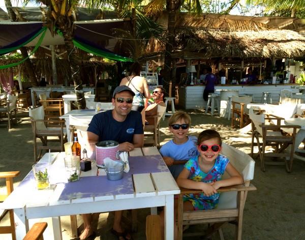 Samara restaurant on the beach