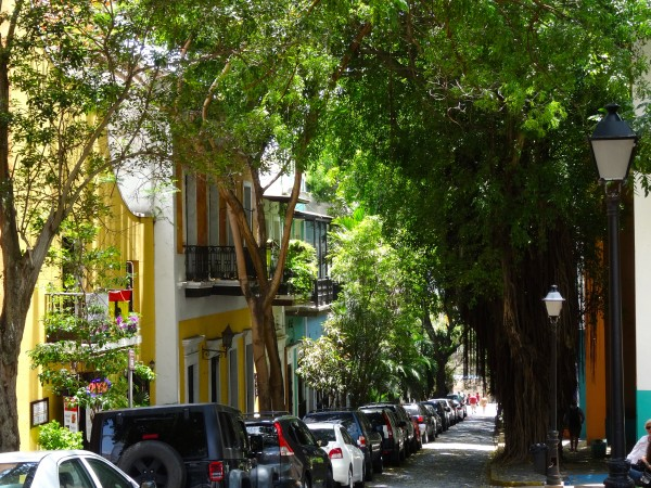 One of many charming streets in Old San Juan