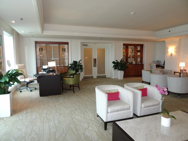 Ritz Carlton San Juan Club level lounge