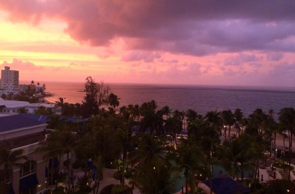 View from Club Level Lounge at Ritz Carlton San Juan