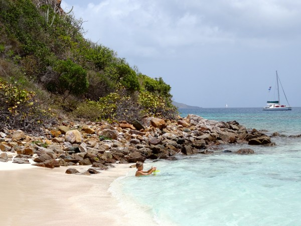 Island drop-off, Little Dix Bay