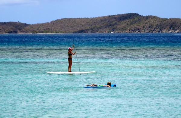Paddle boarding in the British Virgin Islands