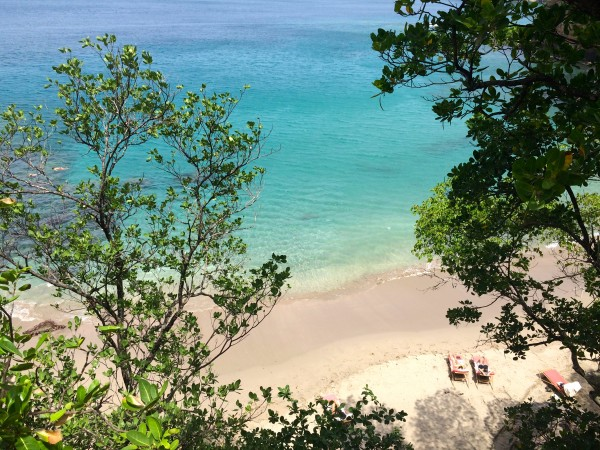 The beach at Cap Maison, St. Lucia