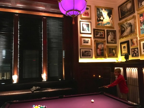 The New York EDITION billiards room