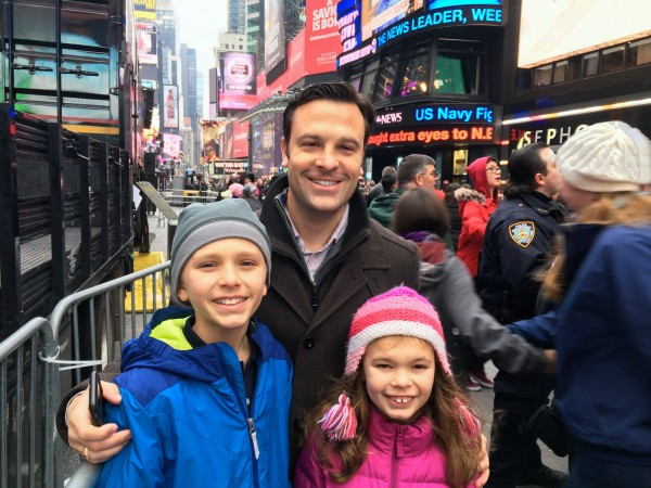 Family time at Times Square