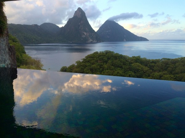 Jade Mountain sunrise