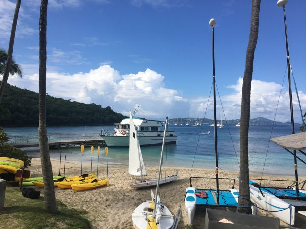 Complimentary watersports at Caneel Bay beach