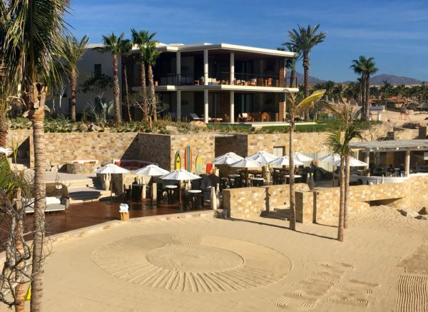 Sand design at Chileno Bay