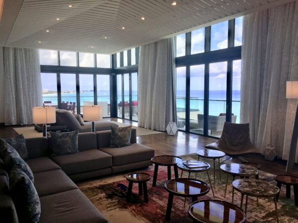 Kimpton Seafire Penthouse living room area