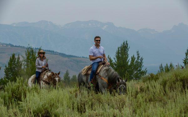 Trail ride in Grand Teton National Park