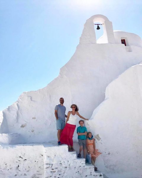 My client exploring Mykonos, Greece