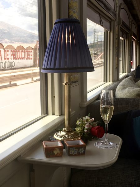 On board the Andean Express luxury train