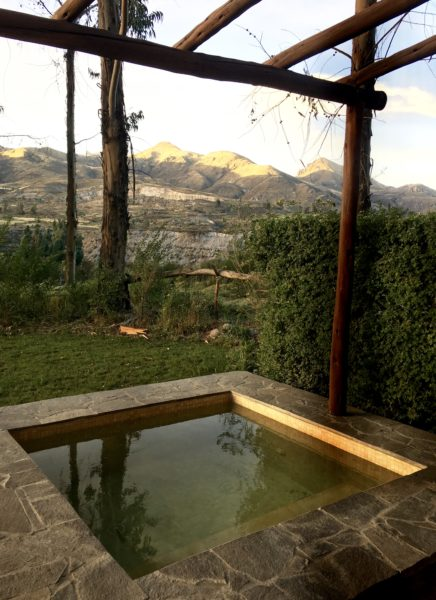 Private plunge pool, Belmond Las Casitas, Colca Valley, Peru
