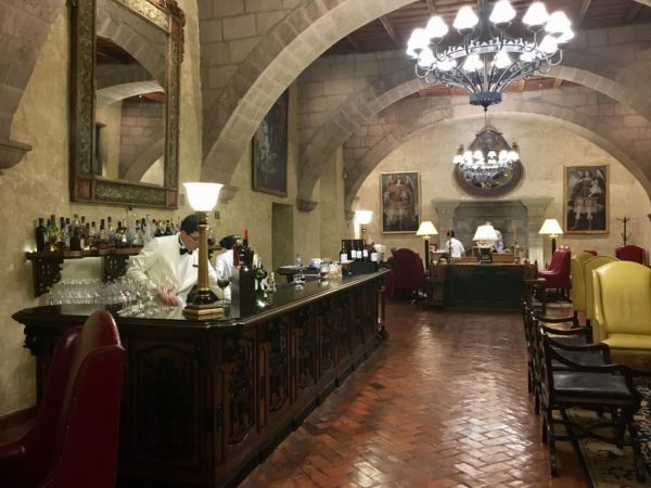 Lobby bar at Belmond Monasterio, in Cusco, Peru