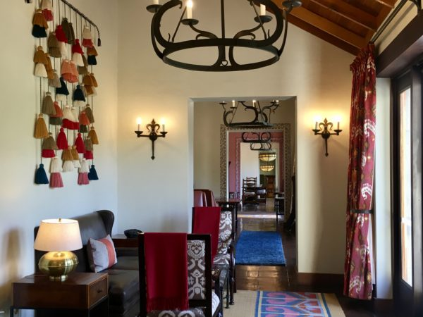 In the lobby at Belmond Las Casitas, Colca Valley