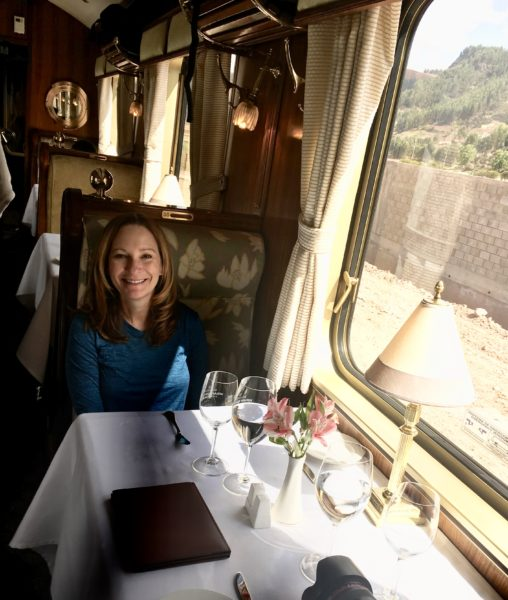 Ready to ride Belmond's Hiram Bingham to Agua Clients