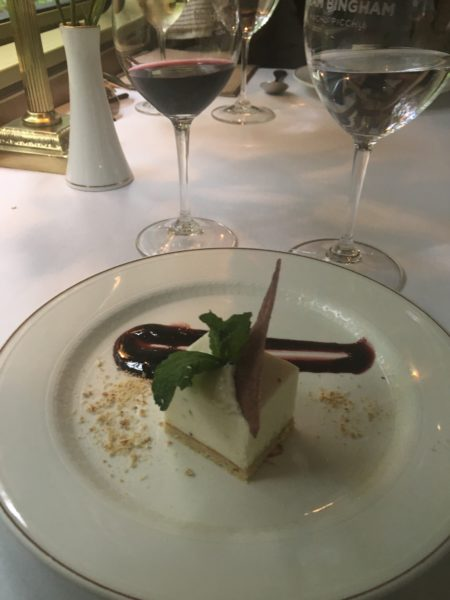 Dessert is delicious on the Belmond Hiram Bingham