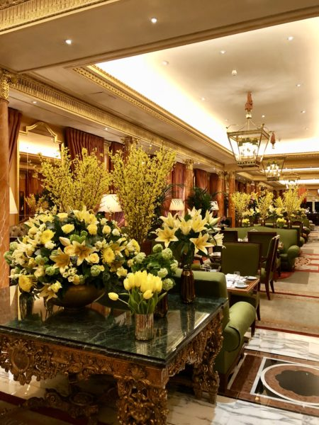 Stunning flowers at The Dorchester