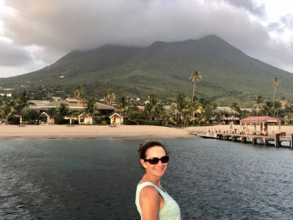 On the dock at the Four Seasons Nevis
