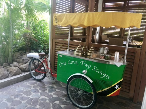 Ice cream time at the Four Seasons Nevis