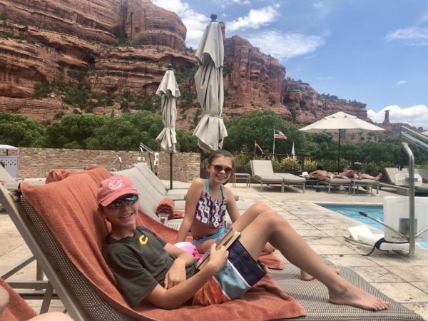 Relaxing by the pool at Enchantment