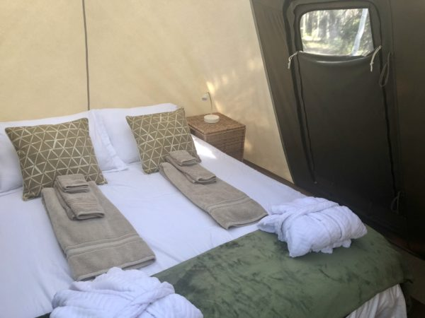 Sleeping quarters, luxury camping