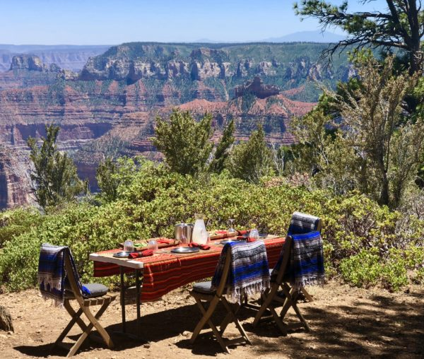 Unforgettable lunch on North Rim of the Grand Canyon
