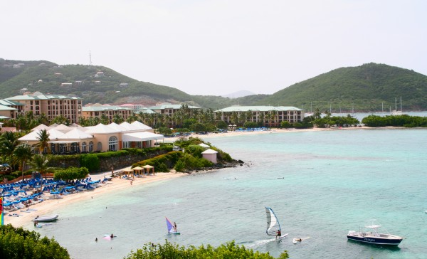Overlooking Great Bay at the Ritz Carlton St. Thomas