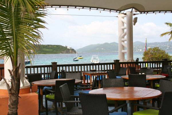 View from Sails restaurant at the Ritz Carlton St. Thomas