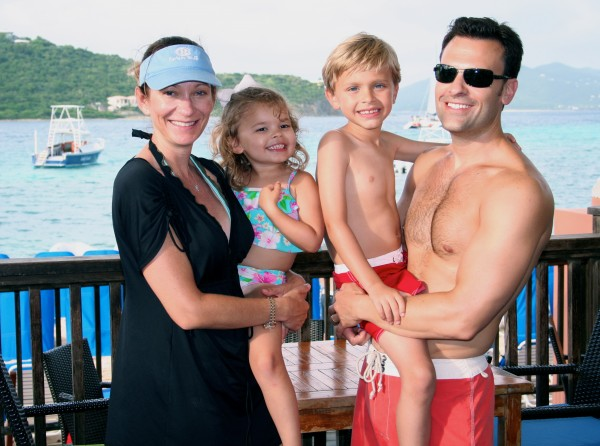 Family time on St. Thomas