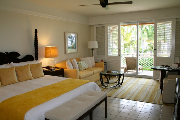 Deluxe Oceanview room at the Four Seasons Nevis