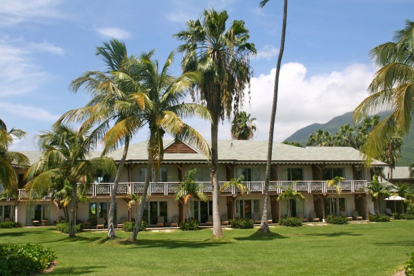 The charming architecture of the Four Seasons Nevis